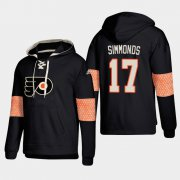 Wholesale Cheap Philadelphia Flyers #17 Wayne Simmonds Black adidas Lace-Up Pullover Hoodie