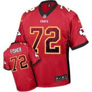 Wholesale Cheap Nike Chiefs #72 Eric Fisher Red Team Color Men's Stitched NFL Elite Drift Fashion Jersey