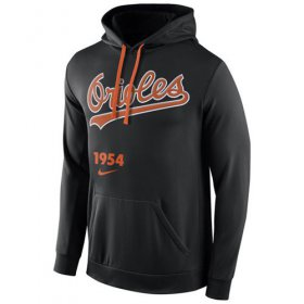 Wholesale Cheap Baltimore Orioles Nike Cooperstown Performance Pullover Black MLB Hoodie