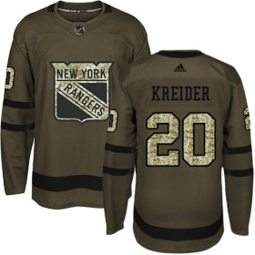 Wholesale Cheap Adidas Rangers #20 Chris Kreider Green Salute to Service Stitched Youth NHL Jersey