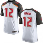 Wholesale Cheap Nike Buccaneers #12 Tom Brady White Men's Stitched NFL New Elite Jersey