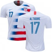 Wholesale Cheap USA #17 Altidore Home Kid Soccer Country Jersey