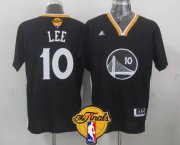 Wholesale Cheap Golden State Warriors #10 David Lee 2015 The Finals New Black Short-Sleeved Jersey