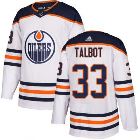 Wholesale Cheap Adidas Oilers #33 Cam Talbot White Road Authentic Stitched Youth NHL Jersey