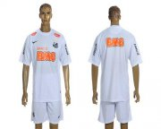 Wholesale Cheap Santos Blank White & Orange Font Home Soccer Club Jersey