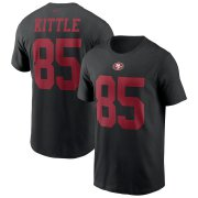 Wholesale Cheap San Francisco 49ers #85 George Kittle Nike Team Player Name & Number T-Shirt Black