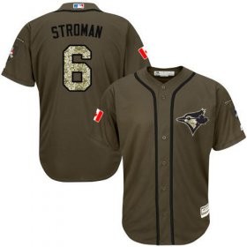 Wholesale Cheap Blue Jays #6 Marcus Stroman Green Salute to Service Stitched MLB Jersey