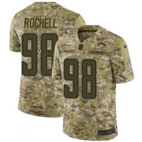 Wholesale Cheap Nike Chargers #98 Isaac Rochell Camo Men\'s Stitched NFL Limited 2018 Salute To Service Jersey