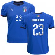 Wholesale Cheap Italy #23 Gabbiadini Home Kid Soccer Country Jersey