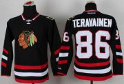 Wholesale Cheap Blackhawks #86 Teuvo Teravainen Black 2014 Stadium Series Stitched Youth NHL Jersey