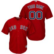 Wholesale Cheap Boston Red Sox Majestic Cool Base Custom Jersey Red