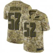 Wholesale Cheap Nike Eagles #52 Asantay Brown Camo Men's Stitched NFL Limited 2018 Salute To Service Jersey