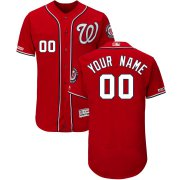 Wholesale Cheap Washington Nationals Majestic Alternate Flex Base Authentic Collection Custom Jersey Scarlet