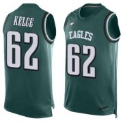 Wholesale Cheap Nike Eagles #62 Jason Kelce Midnight Green Team Color Men's Stitched NFL Limited Tank Top Jersey