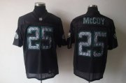 Wholesale Cheap Sideline Black United Eagles #25 LeSean McCoy Black Stitched NFL Jersey