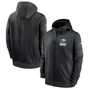 Wholesale Cheap Jacksonville Jaguars Nike Sideline Impact Lockup Performance Full-Zip Hoodie Black