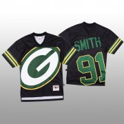 Wholesale Cheap NFL Green Bay Packers #91 Preston Smith Black Men's Mitchell & Nell Big Face Fashion Limited NFL Jersey