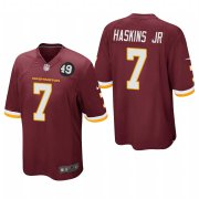 Cheap Washington Redskins #7 Dwayne Haskins Jr Men's Nike Burgundy Bobby Mitchell Uniform Patch NFL Game Jersey
