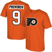 Wholesale Cheap Philadelphia Flyers #9 Ivan Provorov Reebok Name & Number T-Shirt Orange