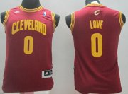 Cheap Cleveland Cavaliers #0 Kevin Love Red Kids Jersey