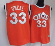 Wholesale Cheap Cleveland Cavaliers #33 Shaquille O'neal CavFanatic Orange Swingman Throwback Jersey