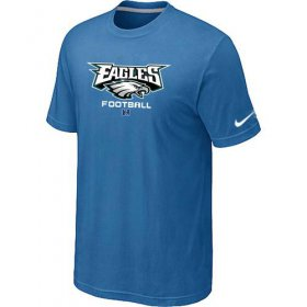 Wholesale Cheap Nike Philadelphia Eagles Critical Victory NFL T-Shirt Light Blue