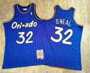 Wholesale Cheap Orlando Magic #32 Shaquille O'neal 1994-95 Blue Hardwood Classics Soul AU Throwback Jersey