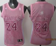 Wholesale Cheap Los Angeles Lakers #24 Kobe Bryant Pink Womens Jersey