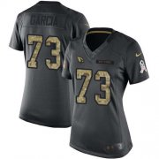 Wholesale Cheap Nike Cardinals #73 Max Garcia Black Women's Stitched NFL Limited 2016 Salute to Service Jersey