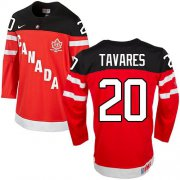 Wholesale Cheap Olympic CA. #20 John Tavares Red 100th Anniversary Stitched NHL Jersey
