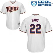 Wholesale Cheap Twins #22 Miguel Sano White Cool Base Stitched Youth MLB Jersey