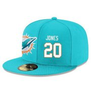 Wholesale Cheap Miami Dolphins #20 Reshad Jones Snapback Cap NFL Player Aqua Green with White Number Stitched Hat