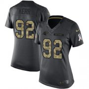 Wholesale Cheap Nike Panthers #92 Zach Kerr Black Women's Stitched NFL Limited 2016 Salute to Service Jersey