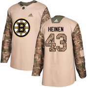 Wholesale Cheap Adidas Bruins #43 Danton Heinen Camo Authentic 2017 Veterans Day Stitched NHL Jersey