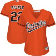 Wholesale Cheap Orioles #22 Jim Palmer Orange Alternate Women's Stitched MLB Jersey