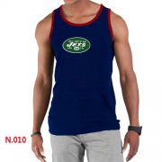 Wholesale Cheap Men's Nike NFL New York Jets Sideline Legend Authentic Logo Tank Top Dark Blue