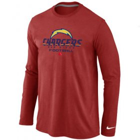 Wholesale Cheap Nike Los Angeles Chargers Critical Victory Long Sleeve T-Shirt Red
