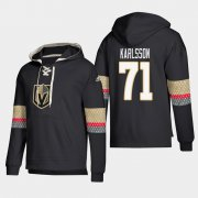 Wholesale Cheap Vegas Golden Knights #71 William Karlsson Black adidas Lace-Up Pullover Hoodie