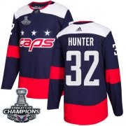 Wholesale Cheap Adidas Capitals #32 Dale Hunter Navy Authentic 2018 Stadium Series Stanley Cup Final Champions Stitched NHL Jersey