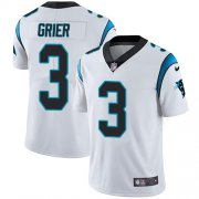 Wholesale Cheap Nike Panthers #3 Will Grier White Youth Stitched NFL Vapor Untouchable Limited Jersey