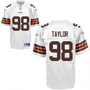 Wholesale Cheap Browns #98 Phil Taylor White Stitched NFL Jersey