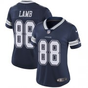 Wholesale Cheap Nike Cowboys #88 CeeDee Lamb Navy Blue Team Color Women's Stitched NFL Vapor Untouchable Limited Jersey