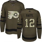 Wholesale Cheap Adidas Flyers #12 Michael Raffl Green Salute to Service Stitched NHL Jersey
