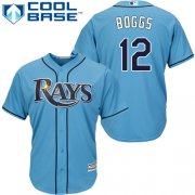 Wholesale Cheap Rays #12 Wade Boggs Light Blue Cool Base Stitched Youth MLB Jersey