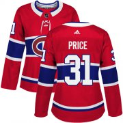 Wholesale Cheap Adidas Canadiens #31 Carey Price Red Home Authentic Women's Stitched NHL Jersey