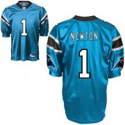 Wholesale Cheap Panthers #1 Cam Newton Blue Stitched NFL Jersey
