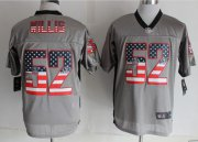 Wholesale Cheap Nike 49ers #52 Patrick Willis Grey Men's Stitched NFL Elite USA Flag Fashion Jersey