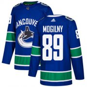 Wholesale Cheap Adidas Canucks #89 Alexander Mogilny Blue Home Authentic Youth Stitched NHL Jersey