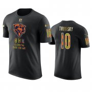Wholesale Cheap Bears #10 Mitchell Trubisky Black Men's Black History Month T-Shirt