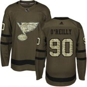 Wholesale Cheap Adidas Blues #90 Ryan O'Reilly Green Salute to Service Stitched NHL Jersey